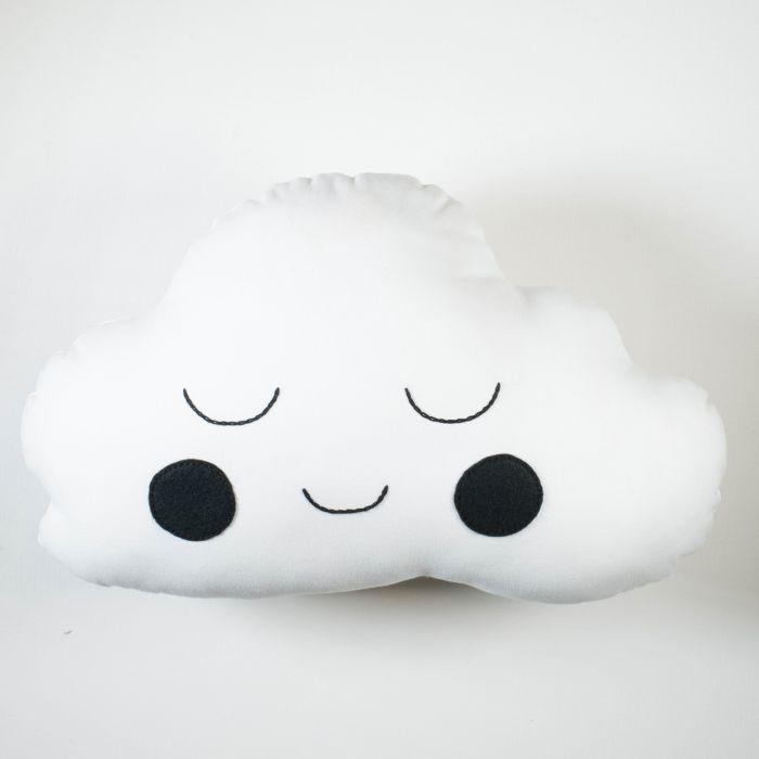 Cloud Cushion - White Boy With Black Cheeks