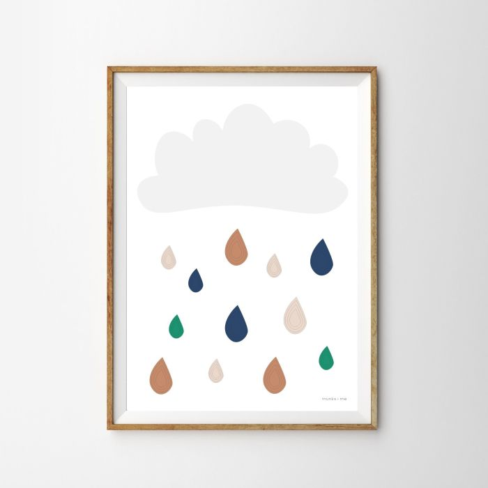 Cloud & Raindrops Print