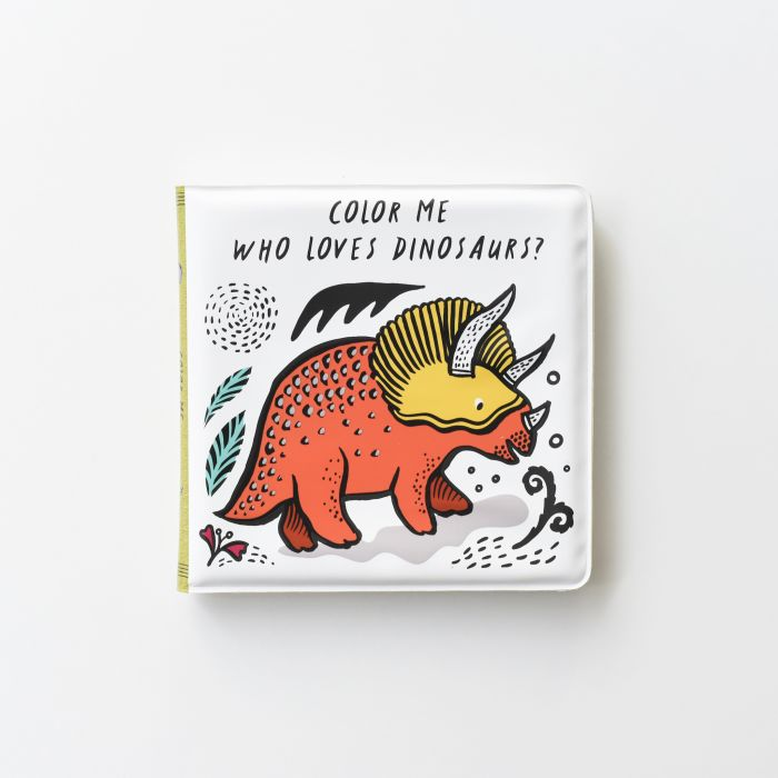 Colour Me Bath Book: Who loves Dinosaurs?