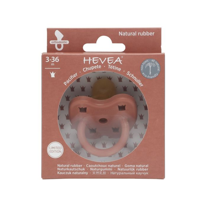 Colourful Natural Rubber Orthodontic Pacifier - Elves Red