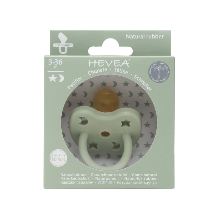 Colourful Natural Rubber Orthodontic Pacifier - Sea Green