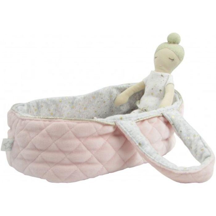 Doll Carrier - Pink Velvet Cotton