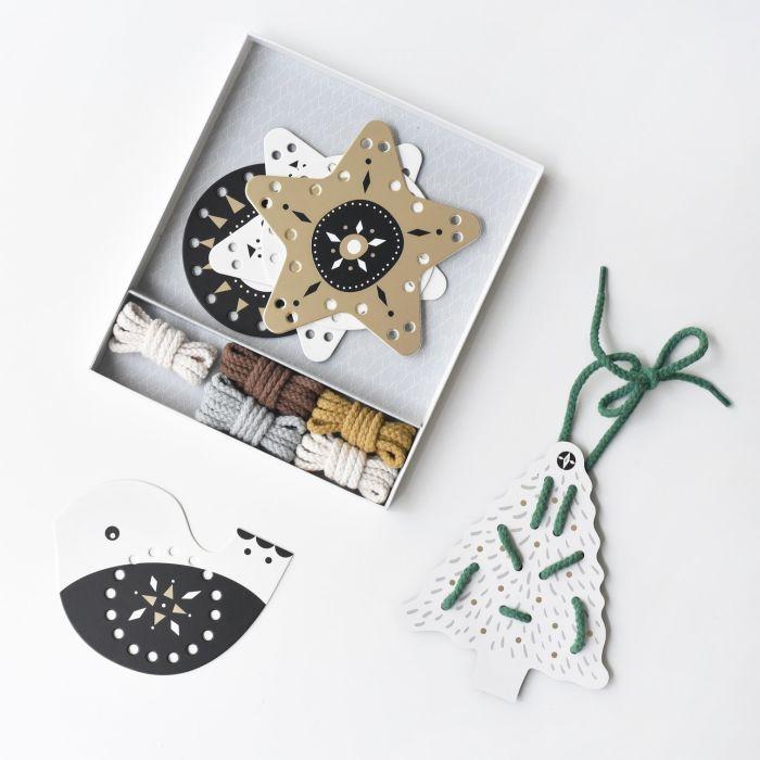Festive Fun Christmas Lacing Cards