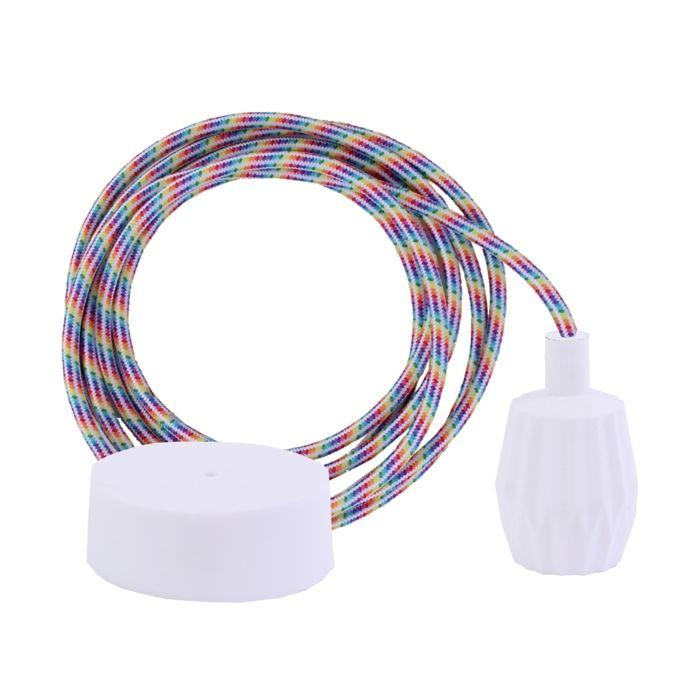 Flex Cable Pendant Light Set - Rainbow