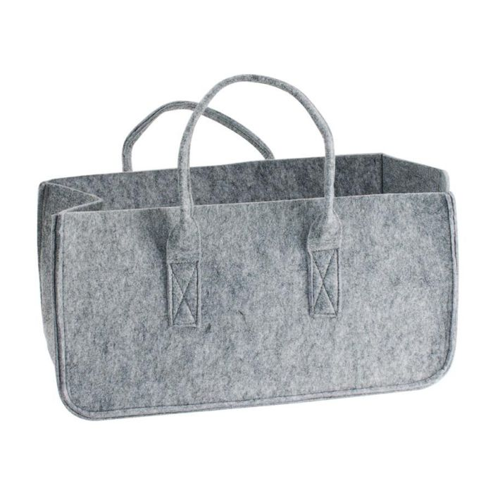 Grey Felt Toy Storage Bag