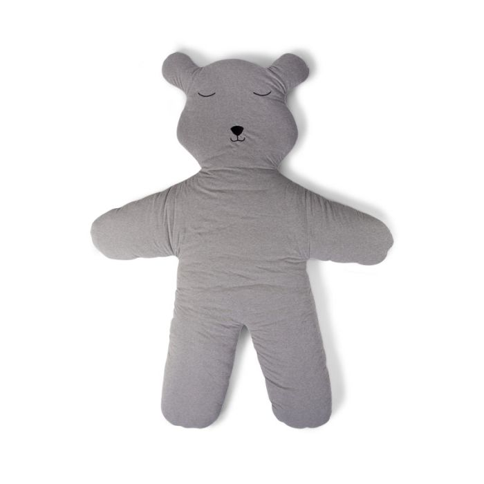 Grey Jersey Teddy Play Mat