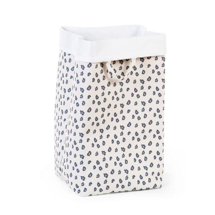 Grey Leopard Print Canvas Storage Box