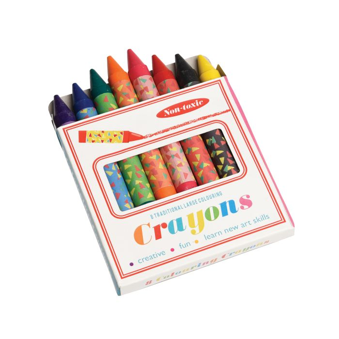 Large Colourful Crayons - Set Of 8