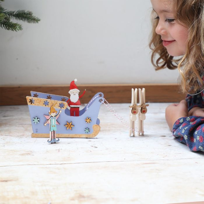 Make You Own Wooden Christmas Sleigh Scene Craft It Kit