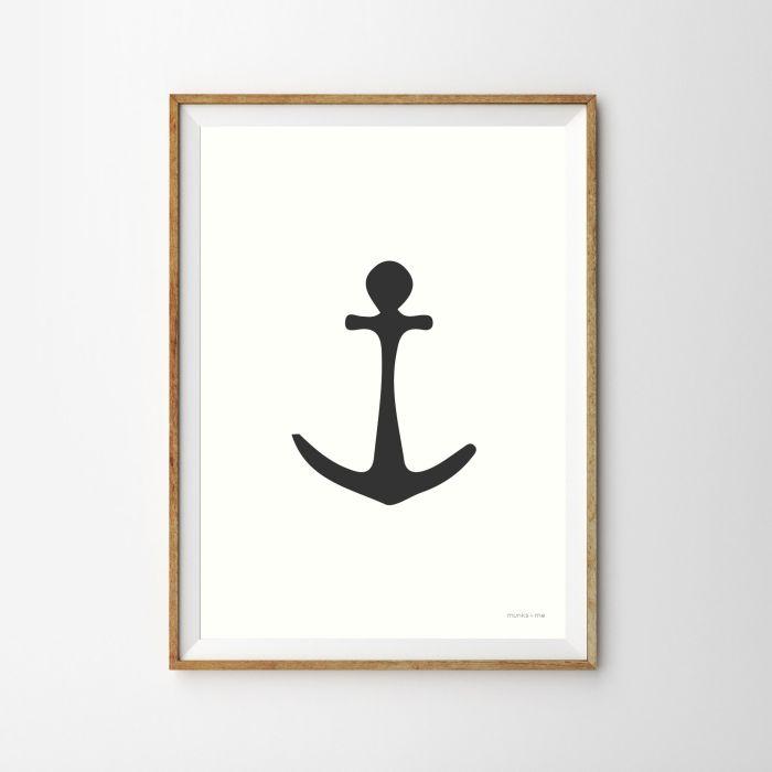 Monochrome Anchor Print