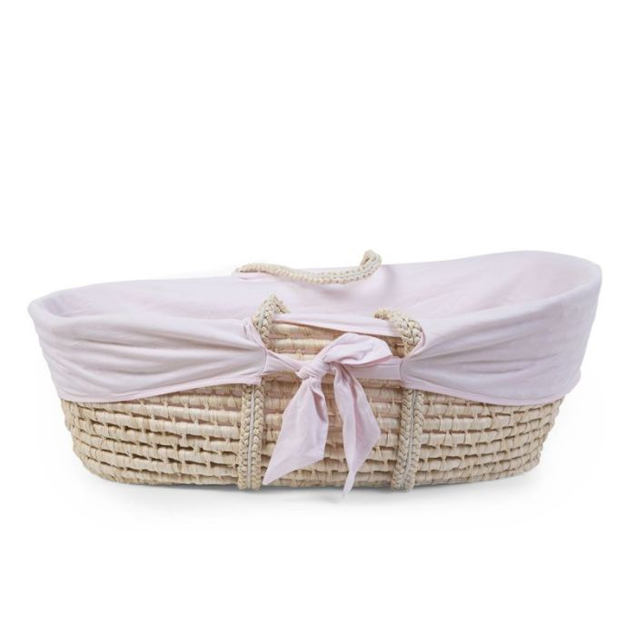 Moses Basket Removable Soft Pink Jersey Cover (cover only)