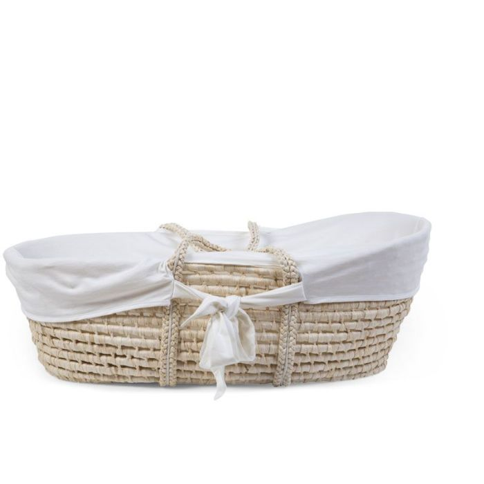 Moses Basket Removable Off White Jersey Cover (cover only)
