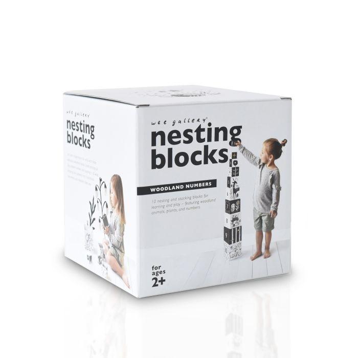 Nesting Blocks – Woodland Numbers