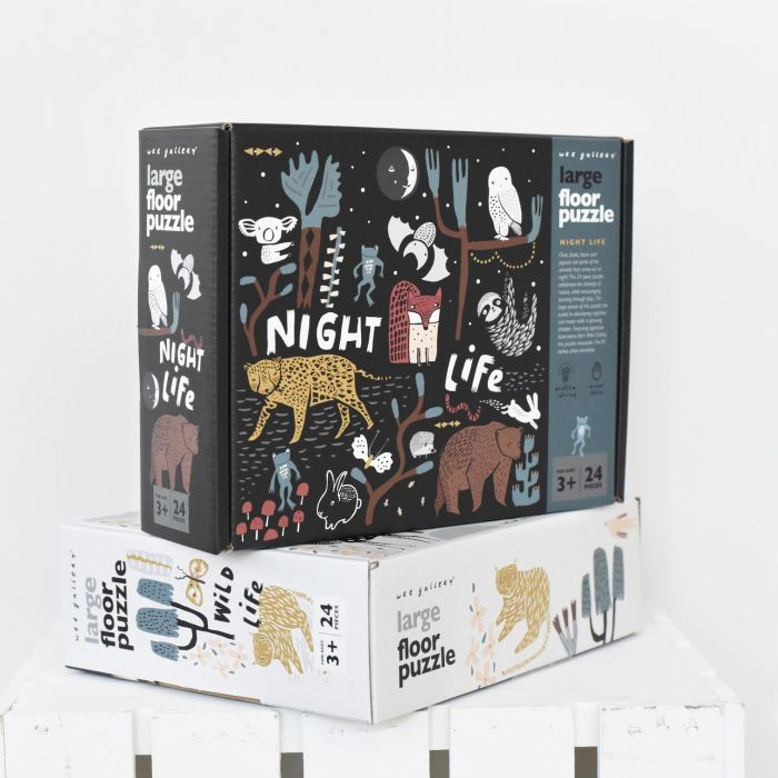 Night Life Animal Floor Puzzle