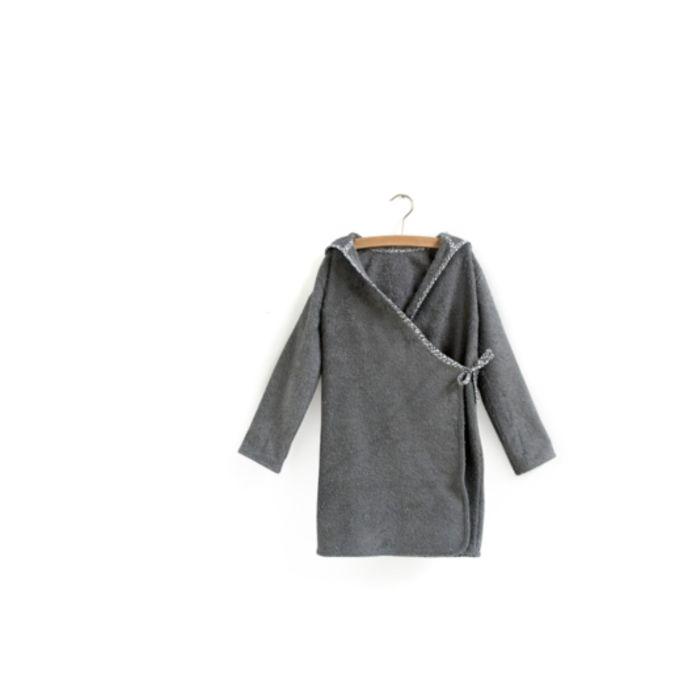 Organic Cotton Bathrobe - Grey