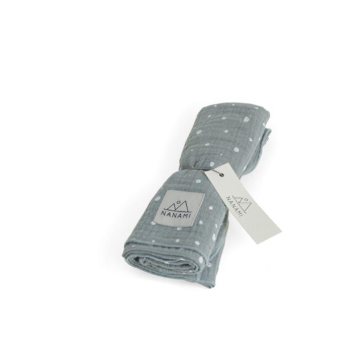 Organic Cotton Swaddle - Mint Dot