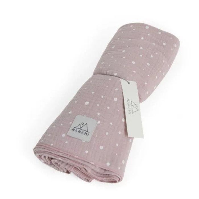Organic Cotton Swaddle - Pink Dot