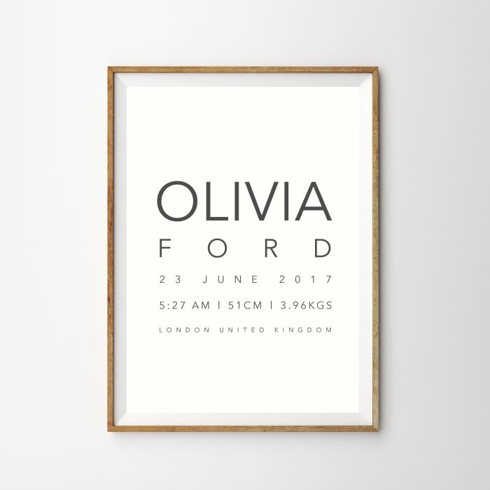Personalised Birth Print