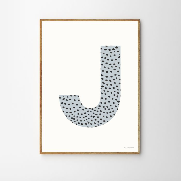 Personalised Initial Sprinkle Children's Nursery Print - Blue