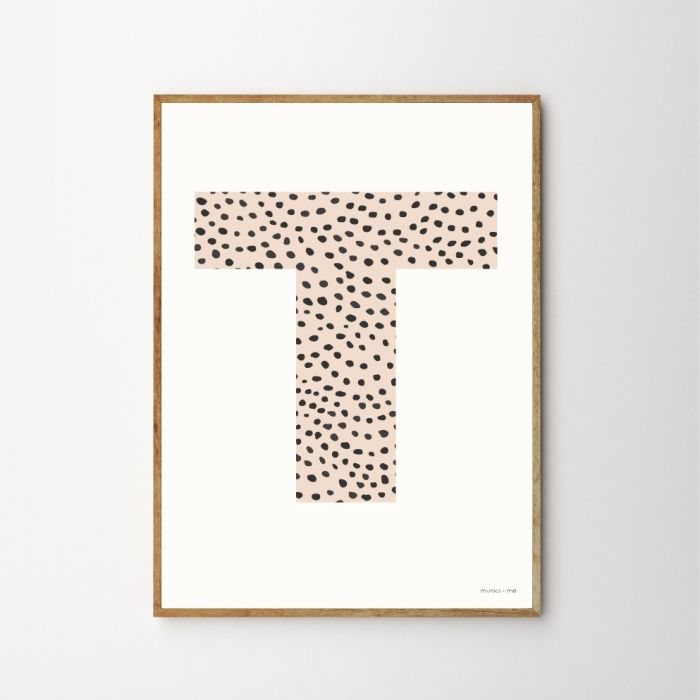 Personalised Initial Sprinkle Children's Nursery Print - Pink
