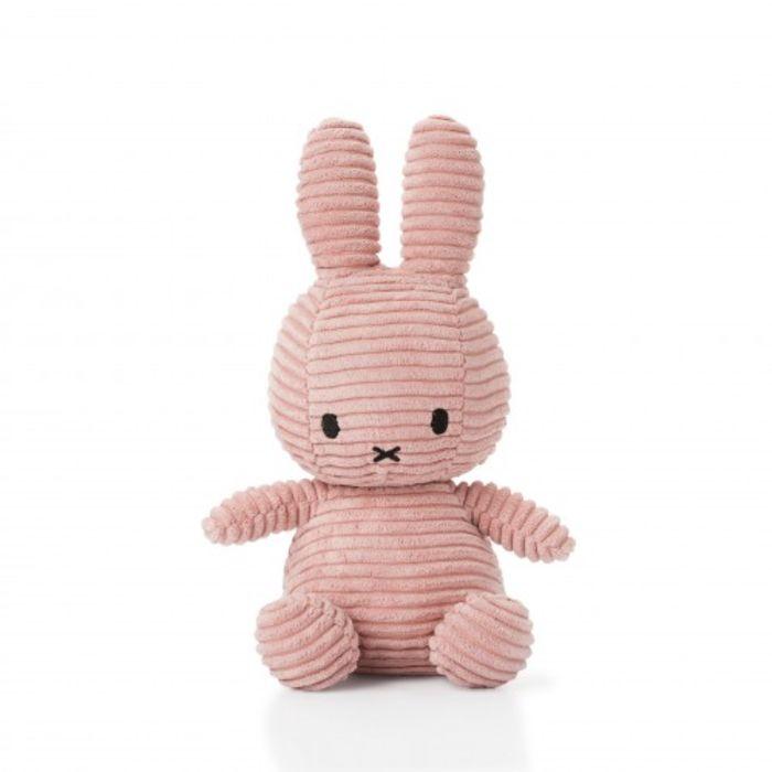 Pink Corduroy Miffy  Soft Toy - Medium