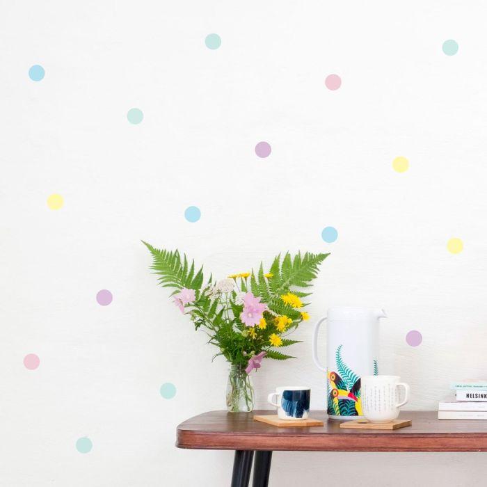 Polka Dot Mix 3.5 Cm A4 Decals - Pastel