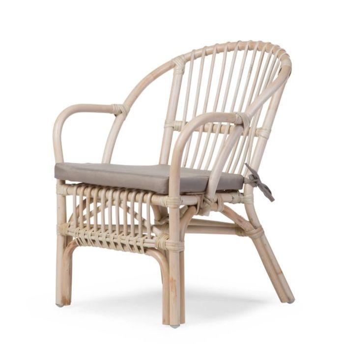 Rattan Children's Chair with Cushion - Natural