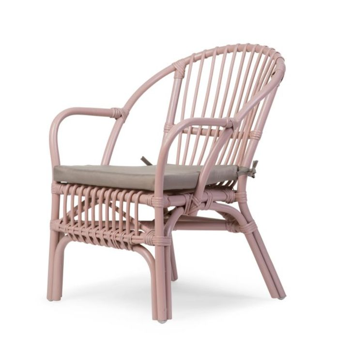 Rattan Children's Chair with Cushion - Nude