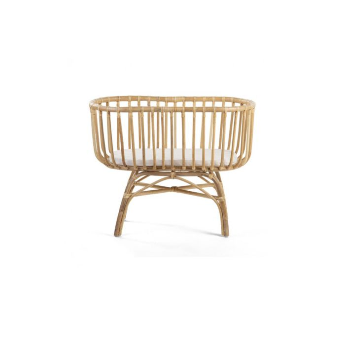 Rattan Cradle with Mattress - 80x40cm