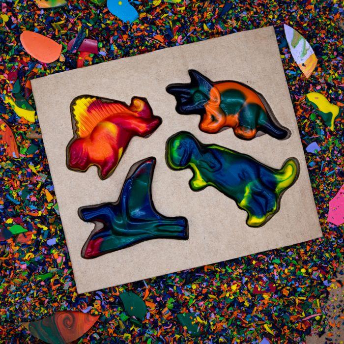 Recycled Crayons - Dinosaur Set