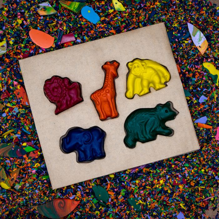 Recycled Crayons - Zoo Set