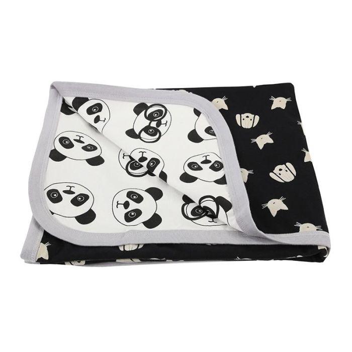 Reversible Jersey Blanket - Panda / Percey And Maurice
