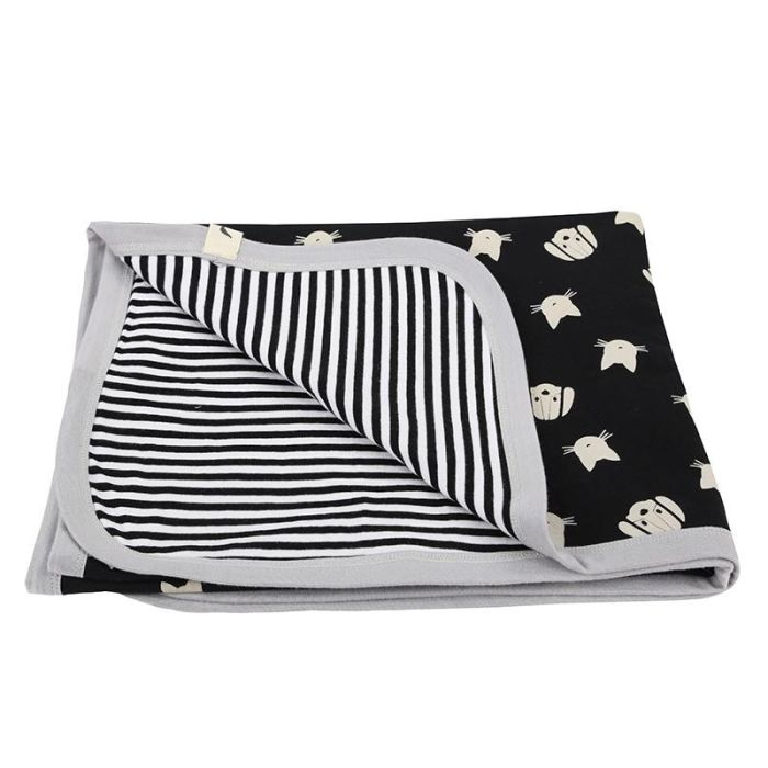 Reversible Jersey Blanket - Stripe / Percey And Maurice