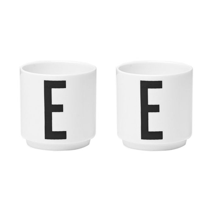 Set of 2 Egg Cups - Design Letters