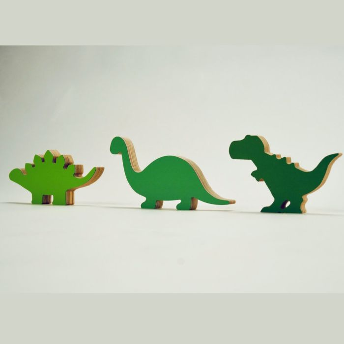 Set of 3 Dinosaur Figures