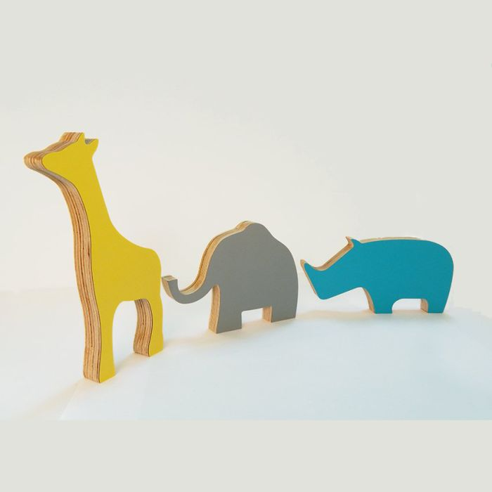 Set of 3 Safari Animal Figures