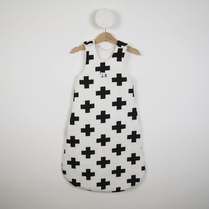 Sleeping Bag In White Cross Print