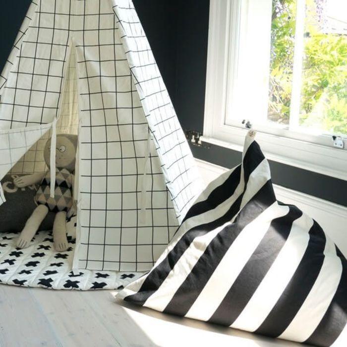 Stripe Print Pyramid Bean Bag
