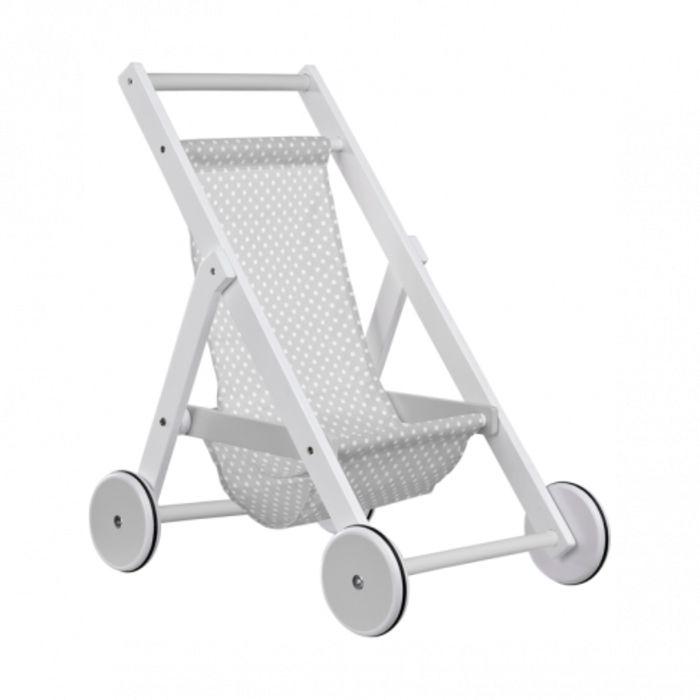 Wooden Toy Stroller/Push Chair - Grey