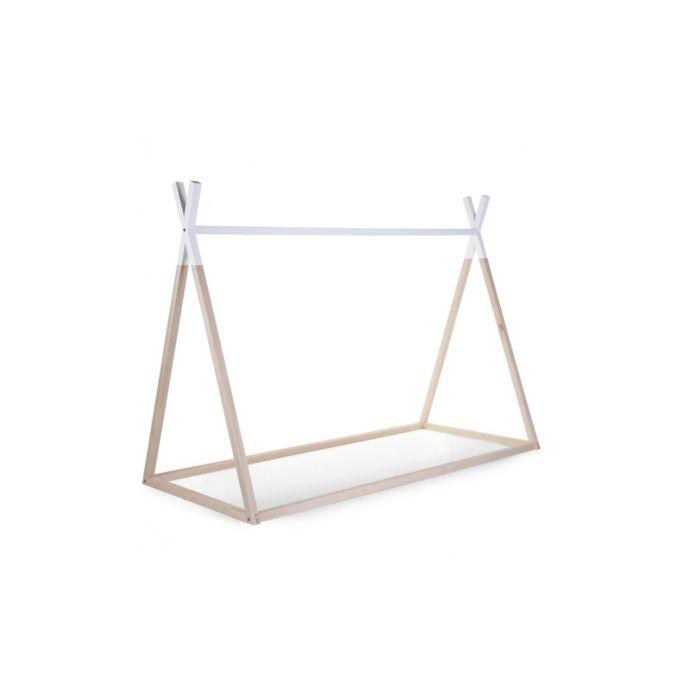 Tipi Bed Natural & White 90x200