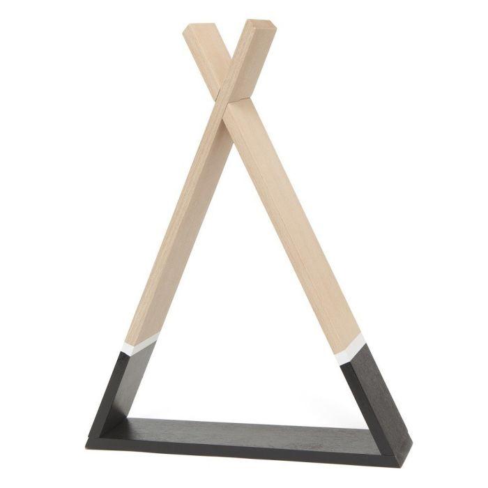 Black Monochrome Tipi Shelf