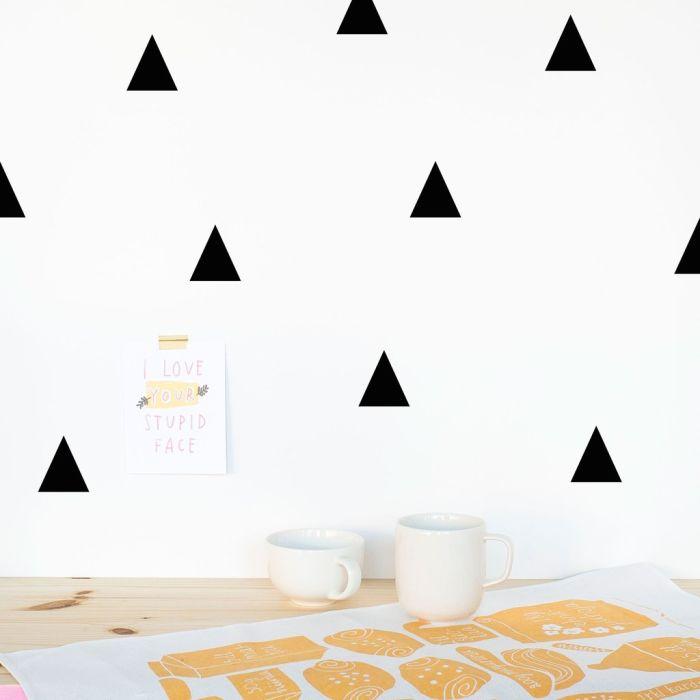 Triangles 5 Cm A4 Decals - Black
