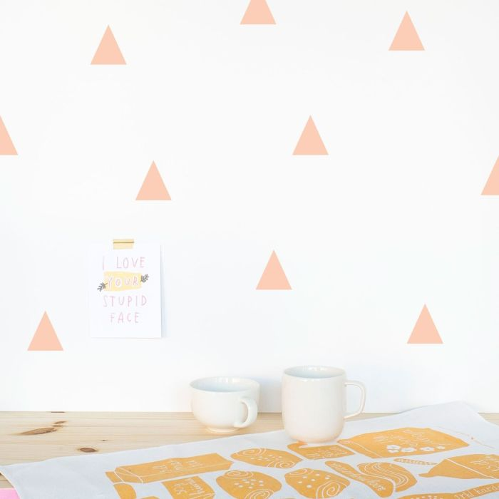 Triangles 5 Cm A4 Decals - Coral