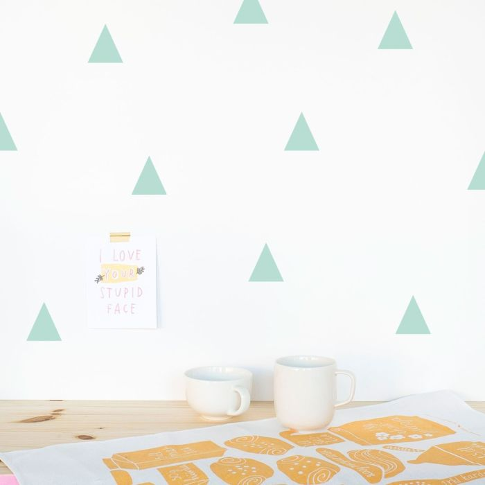 Triangles 5 Cm A4 Decals - Mint