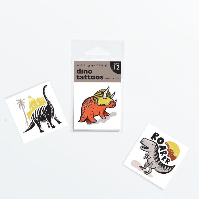 Wee Gallery Dino Tattoos - Pack Of 12