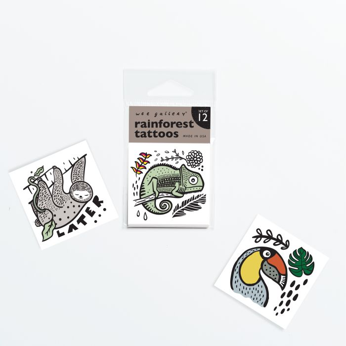 Wee Gallery Rainforest Tattoos - Pack Of 12