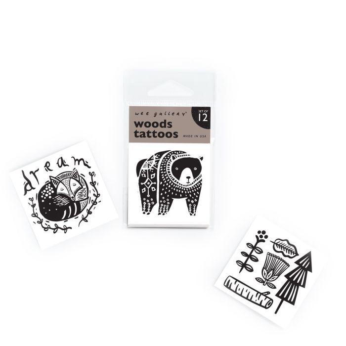 Wee Gallery Woods Tattoos - Pack Of 12