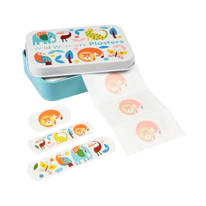 Wild Wonders Plasters in a tin (pack of 30)