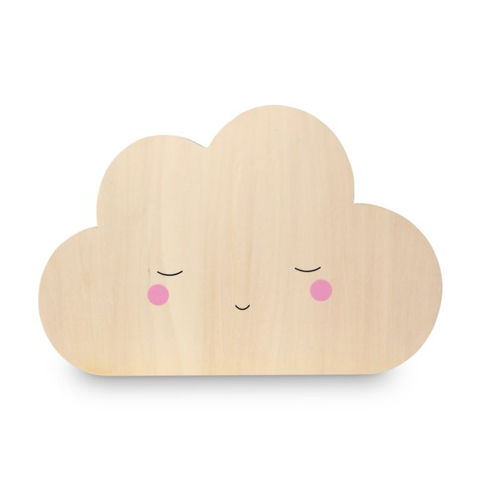 Wooden Cloud Tap Wall Night Light