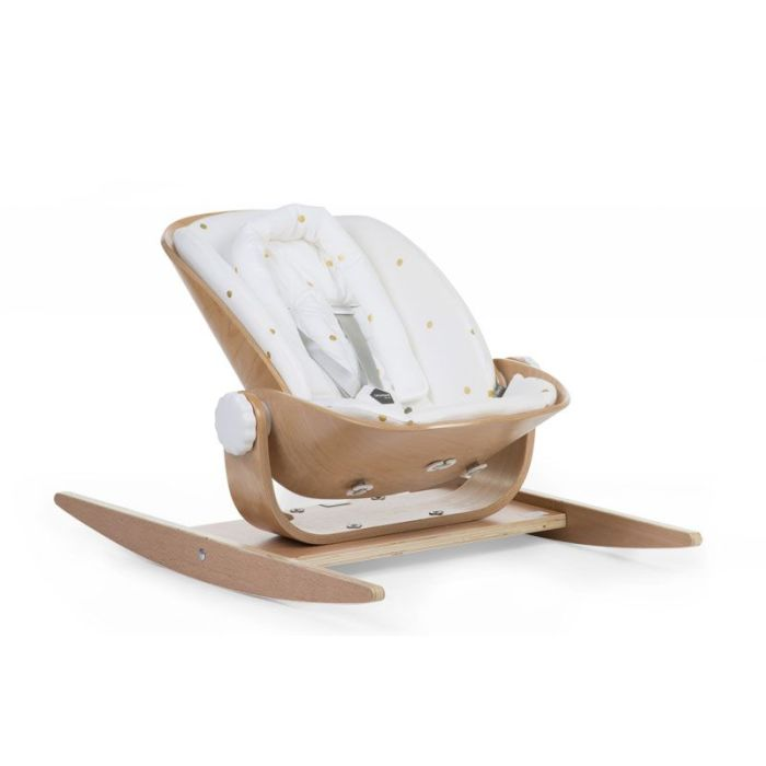 Wooden Rocker Jersey Seat Cushion - Gold Dots (cushion only)